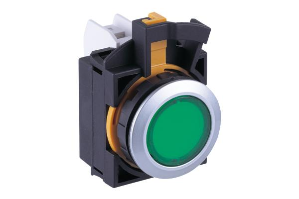 Idec CW4P Series 22mm Pilot Lights, Round Lens with Metal Bezel & LED Lamp